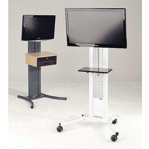 LCD And Plasma Mobile Stand Mobile Stand White