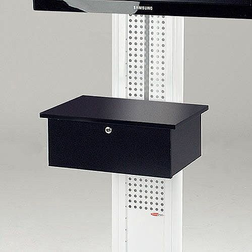 LCD And Plasma Mobile Stand Black Cabinet Standard Front