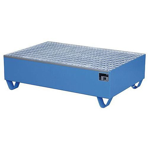 Value Sump Pallet Blue Painted For 1 Drum HxWxD 455x800x800mm
