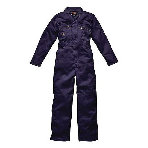 Dickies Redhawk Zip Front Coverall Chest Size 48 Inch Navy