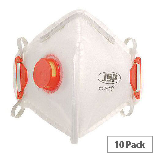 P3 Fold Flat Valved Disposable Mask Pack of 10