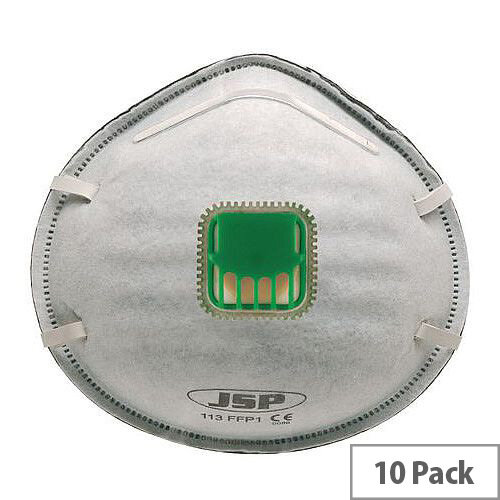 P1 Moulded Disposable Masks P1 Valved Pack of 10