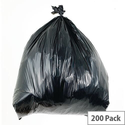 Waste Sacks Light Duty Black 90L Pack of 200
