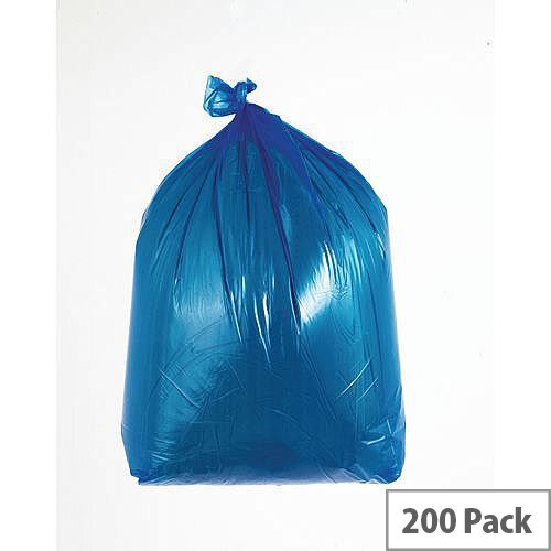 Waste Sacks Medium Duty Blue 90L Pack of 200