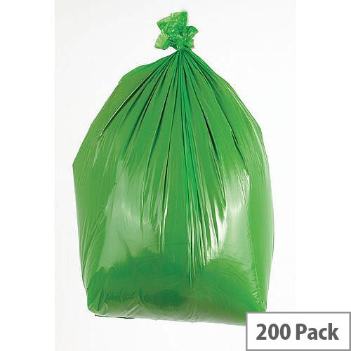 Waste Sacks Medium Duty Green 90L Pack of 200