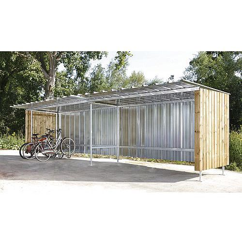 Metal And Wood Shelter Extension Bay