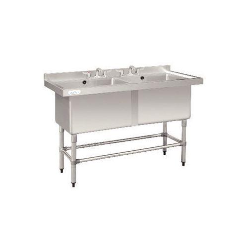 Deep Pot Sink Double Bowl 2x100L