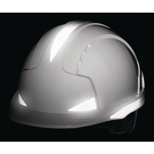 JSP Evolite Safety Helmet Vented with Wheel Ratchet Wheel White