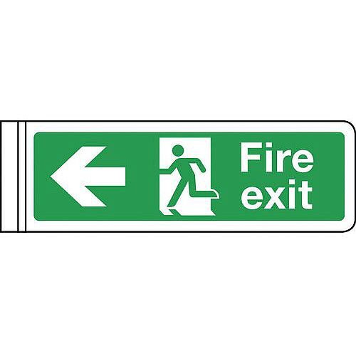 Wall Mounted Double Sided Sign Arrow Left HxW 100x300mm