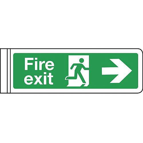 Wall Mounted Double Sided Sign Arrow Right HxW 100x300mm