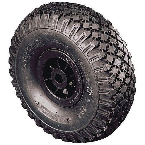 Polypropylene Centre With Pneumatic Tyre Bore 25.4mm Plain Wheel Diameter 355mm Load Capacity 185kg