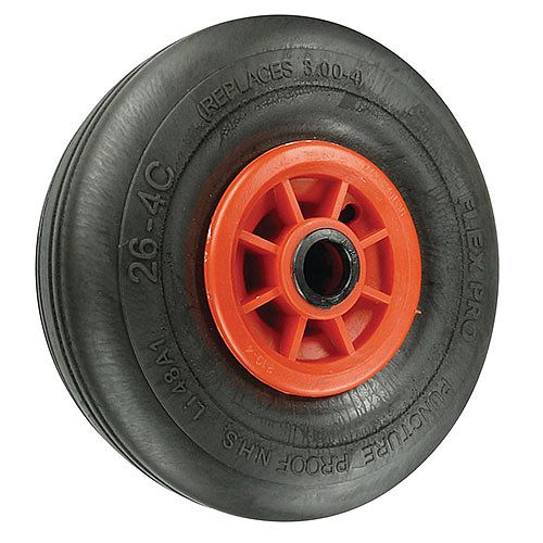 Puncture Proof Wheels Microcellular Rubber Tyred Load Capacity 218kg