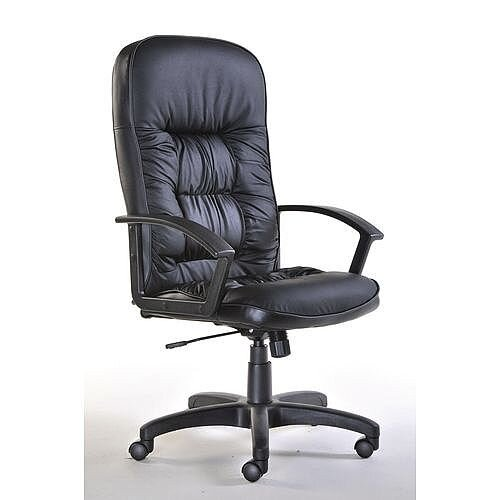 King Managers Leather Faced High Back Office Chair