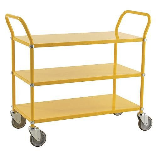 Three Tier Coloured Trolley Capacity 250kg Yellow