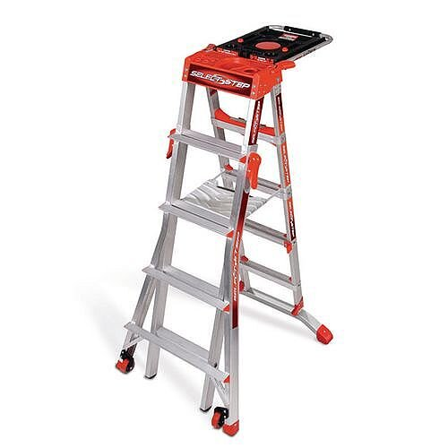 Aluminium Multipurpose Telescopic Ladder 8 Rungs Height 1.54M