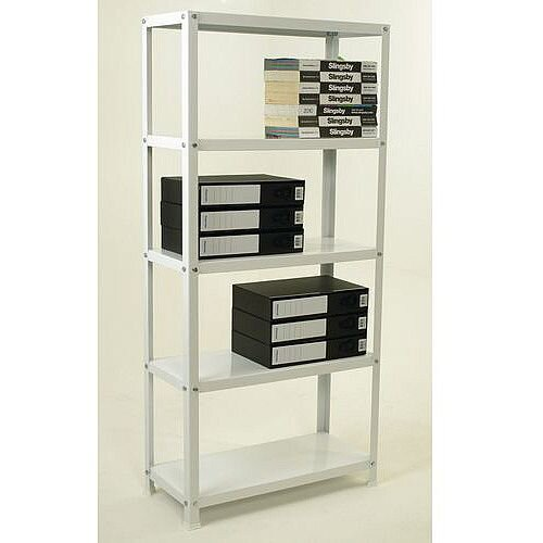 White Bolted Office Shelving 1500mm High
