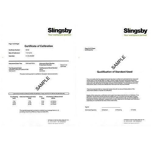 Precision Thermo-Hygrometer Ukas Certificate