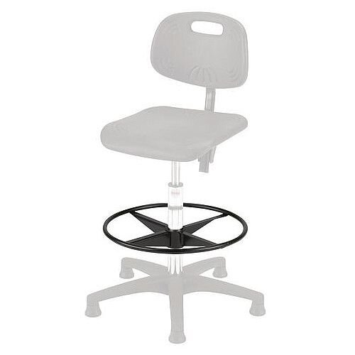 Universal Industrial Chair Accessory Black Footring 480mm Dia.