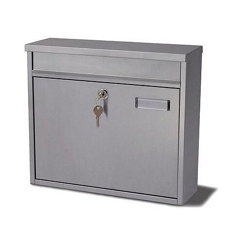Ouse Modular Post Box Silver