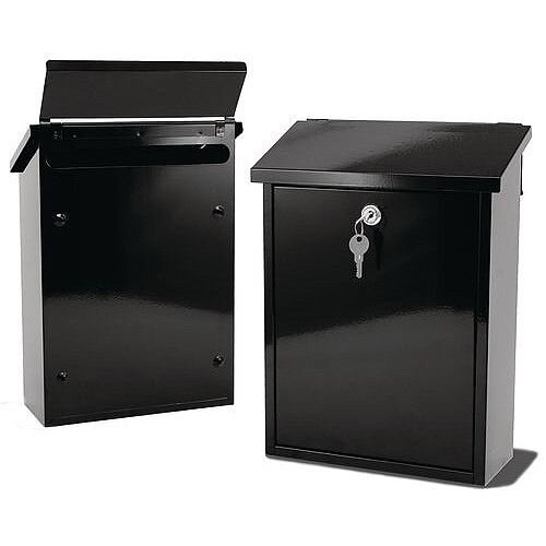 Liffey Rear Access Post Box Black