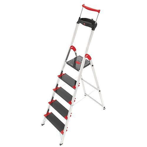 Deep Tread, Heavy Duty 6 Tread Step Platform Height 1.28M Capacity 225Kg