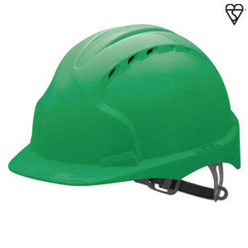 JSP Evo3 Safety Helmets Vented Hard Hat Green
