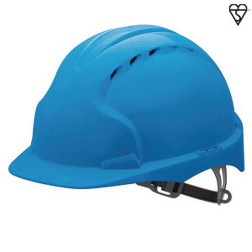 JSP Evo3 Safety Helmets Vented Hard Hat Blue