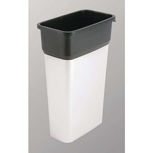 Vileda Geo Range Recycling Compact Slim Bin 70L Metallic/Black Without Lid