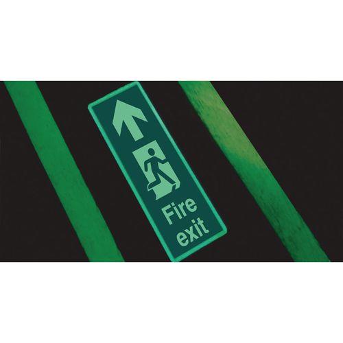 Photoluminescent Floor Mounted Sign WxL 250mm x 600m