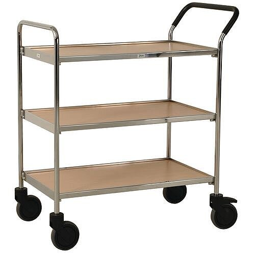 Chrome Service Trolley Capacity 150kg