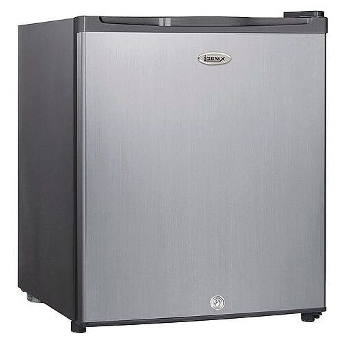 Stainless Steel Effect Counter Top Freezer With Lock 34 Litres