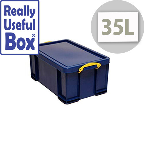 Box Really Useful 35Ltr Capacity 35Ltr Capacity Solid Blue