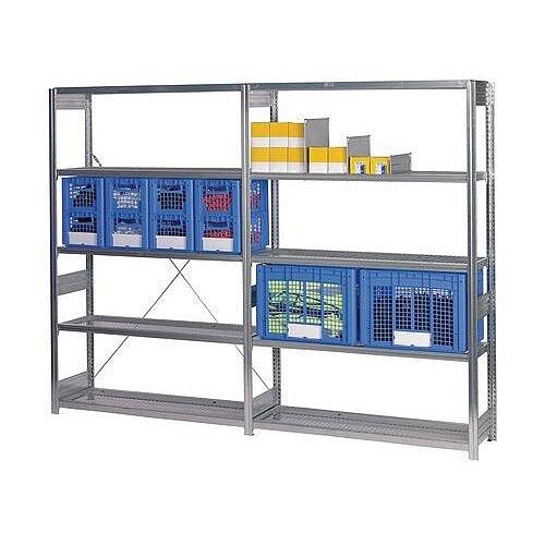 Galvanised Shelving With Mesh Shelves Starter Bay HxWxDmm 3000x40x424