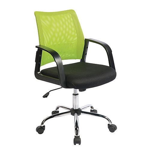 Coloured Back Mesh Task Operator Office Chair Black &Green