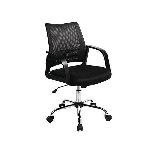 Coloured Back Mesh Task Operator Office Chair Black
