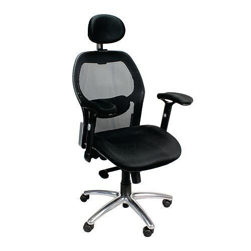 High Back Task Operators Mesh Chair With Chrome Base