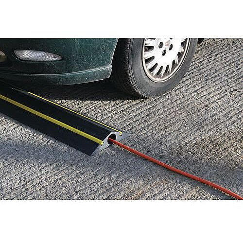 Temporary Traffic Calmer And Cable Protector 1x53mm Circular Channel