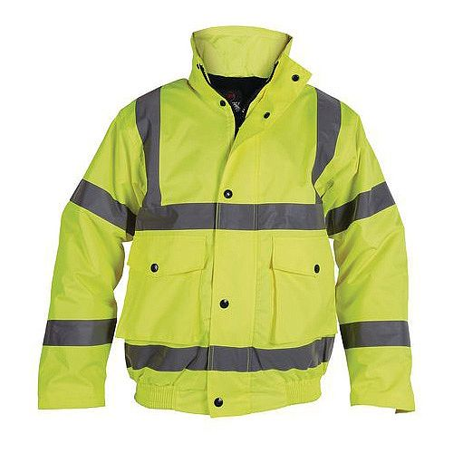 Hi-Visibility Yellow Bomber Jacket Chest Size 58 Inch Size 3XL