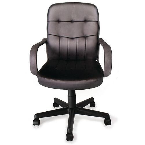 Medium Back Bonded Leather Faced Managers Office Chair
