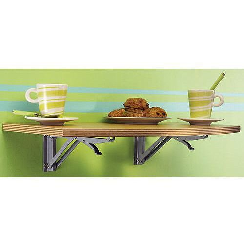 Wall Mounted Folding Table Medium Rectangular Rounded Edge 600x350mm