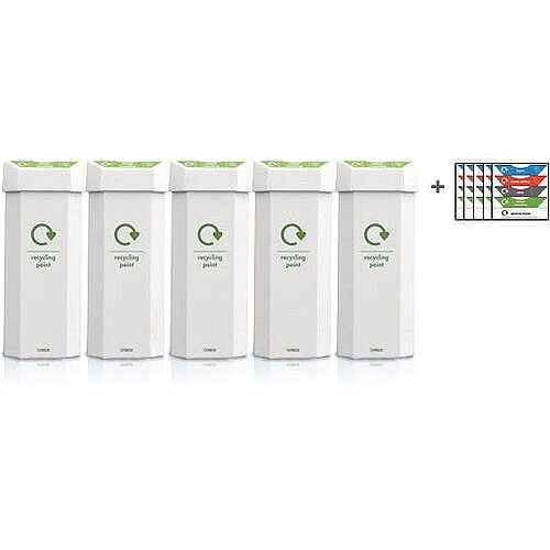 Recycling Bins Capacity 60L Pack Of 5