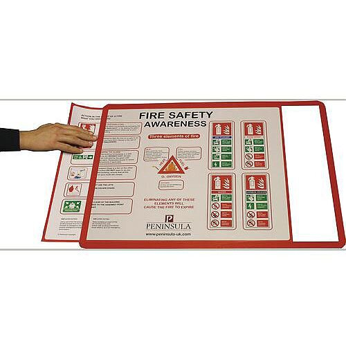 Self-Adhesive Document Frames A2 Self-Adhesive Red Pack of 10