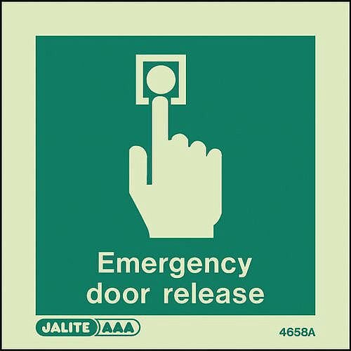 Emergency Door Release Sign W x H: 100 x 100mm