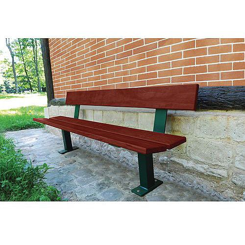 Wood And Steel Bench Seat Mahogany