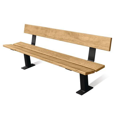Wood And Steel Bench Seat Light oak