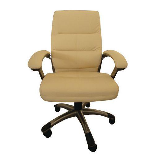 Medium Back Executive Office Armchair Cream