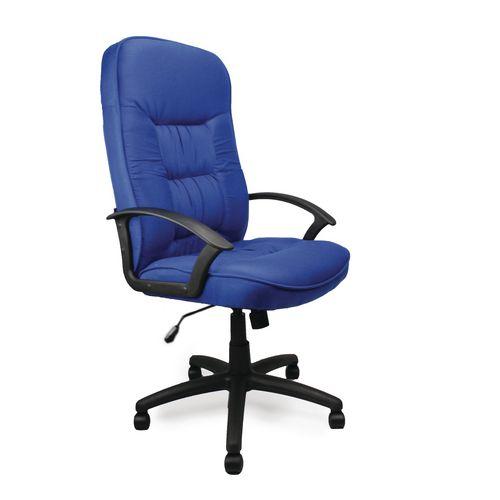 High Back Executive Fabric Office Chair Blue