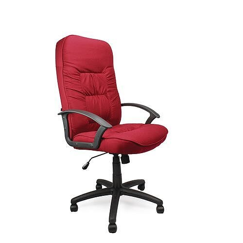 High Back Executive Fabric Office Chair Wine