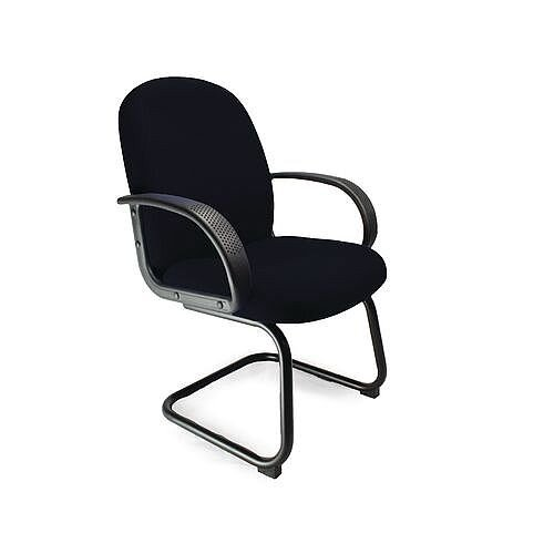 Cantilever Fabric Visitors Chair Black