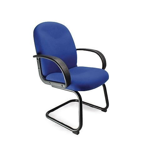 Cantilever Fabric Visitors Chair Blue